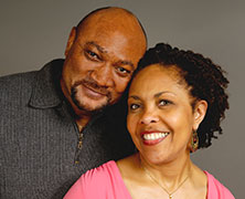 Photo of a man and woman smiling for a picture. Link to Life Stage Gift Planner Ages 45-65 Gifts.